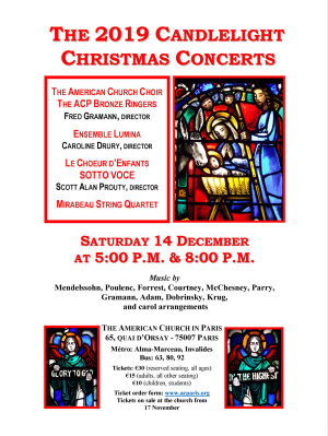 ACP Candlelight Christmas Concerts — 14 December 17h & 20h